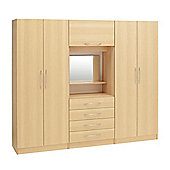 Ideal Furniture Alaska 4 door wardrobe with drawers