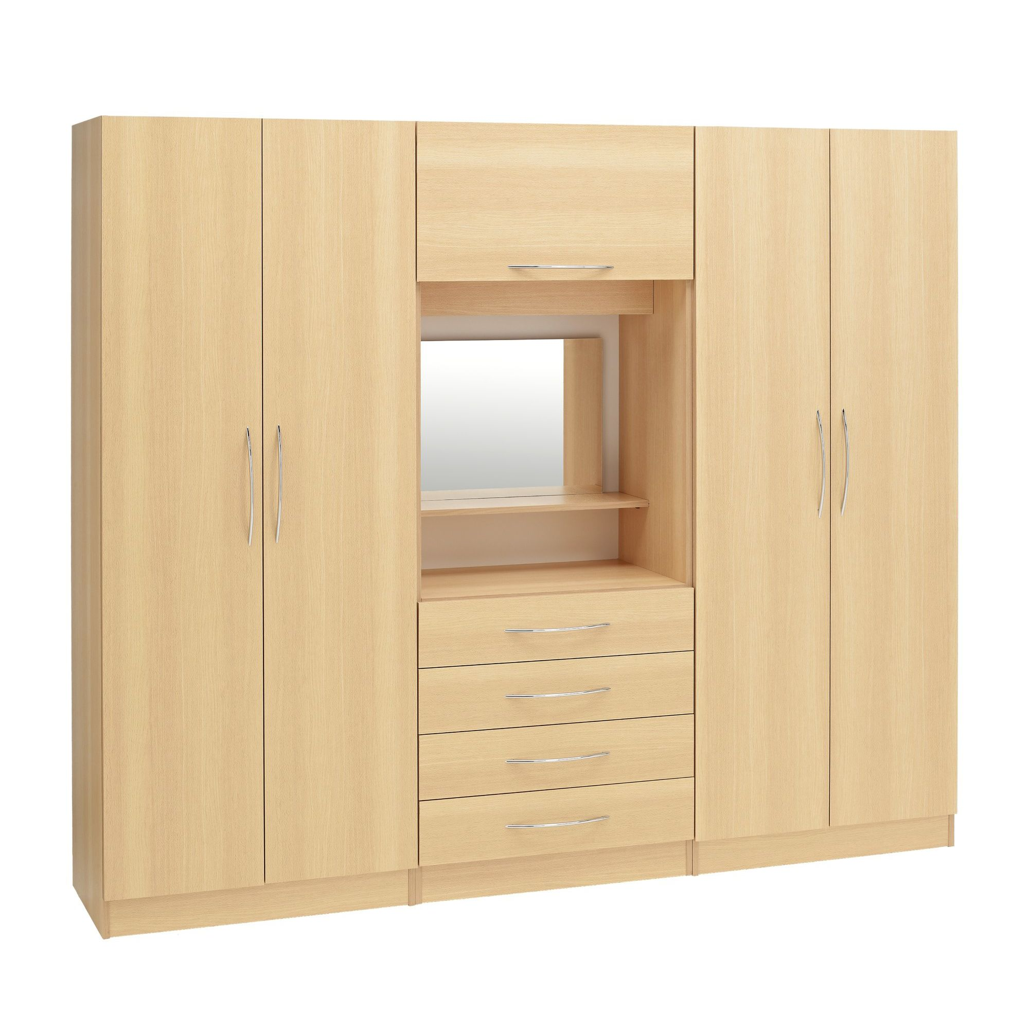 Ideal Furniture Alaska 4 door wardrobe with drawers at Tesco Direct