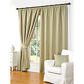 Hamilton McBride Waffle Lined Pencil Pleat Curtains - Green