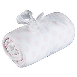 Tesco Loves Baby Spot/Stripe Blanket Pink