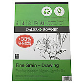 Daler Eco Pad Fine Grain Drawing Pad A3 120g