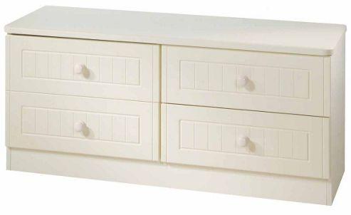 Welcome Furniture Warwick 4 Drawer Bed Box - White