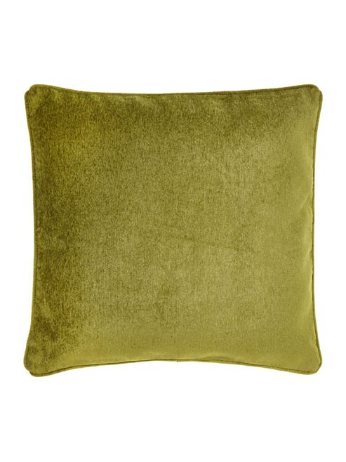 buy linea green chenille cushion from our cushions range. Black Bedroom Furniture Sets. Home Design Ideas