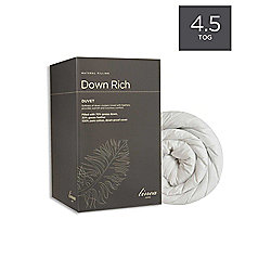 Linea Down Rich 4.5 Tog Double Duvet In White