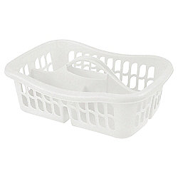 Tesco Plastic Cleaning Caddy with Handle, White