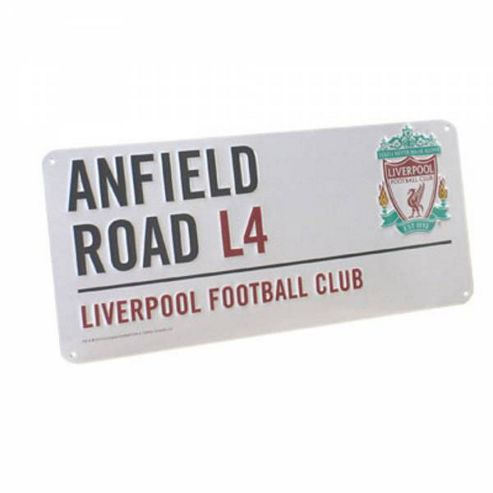 Liverpool FC Anfield Road Street Sign