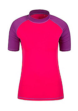 Rash Vest UV Protection Womens Swimming Diving Surfing Top - Pink