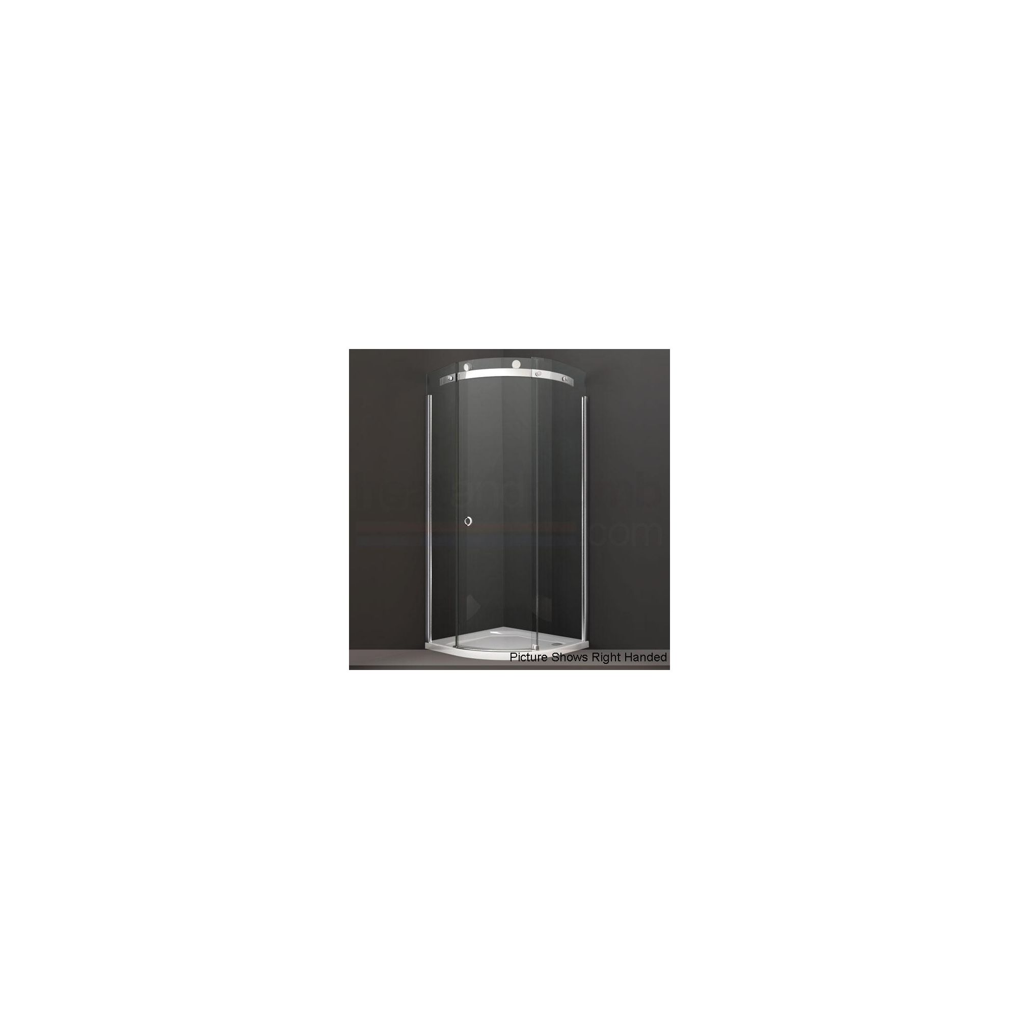 Merlyn Series 10 Quadrant Sliding Door Shower Enclosure, 900mm, Low Profile Tray, 10mm Glass at Tesco Direct