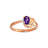 QP Jewellers Diamond & Amethyst Angel Ring in 14K Rose Gold