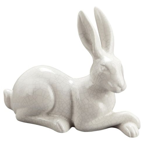F&F Home crackle white H17CM hare