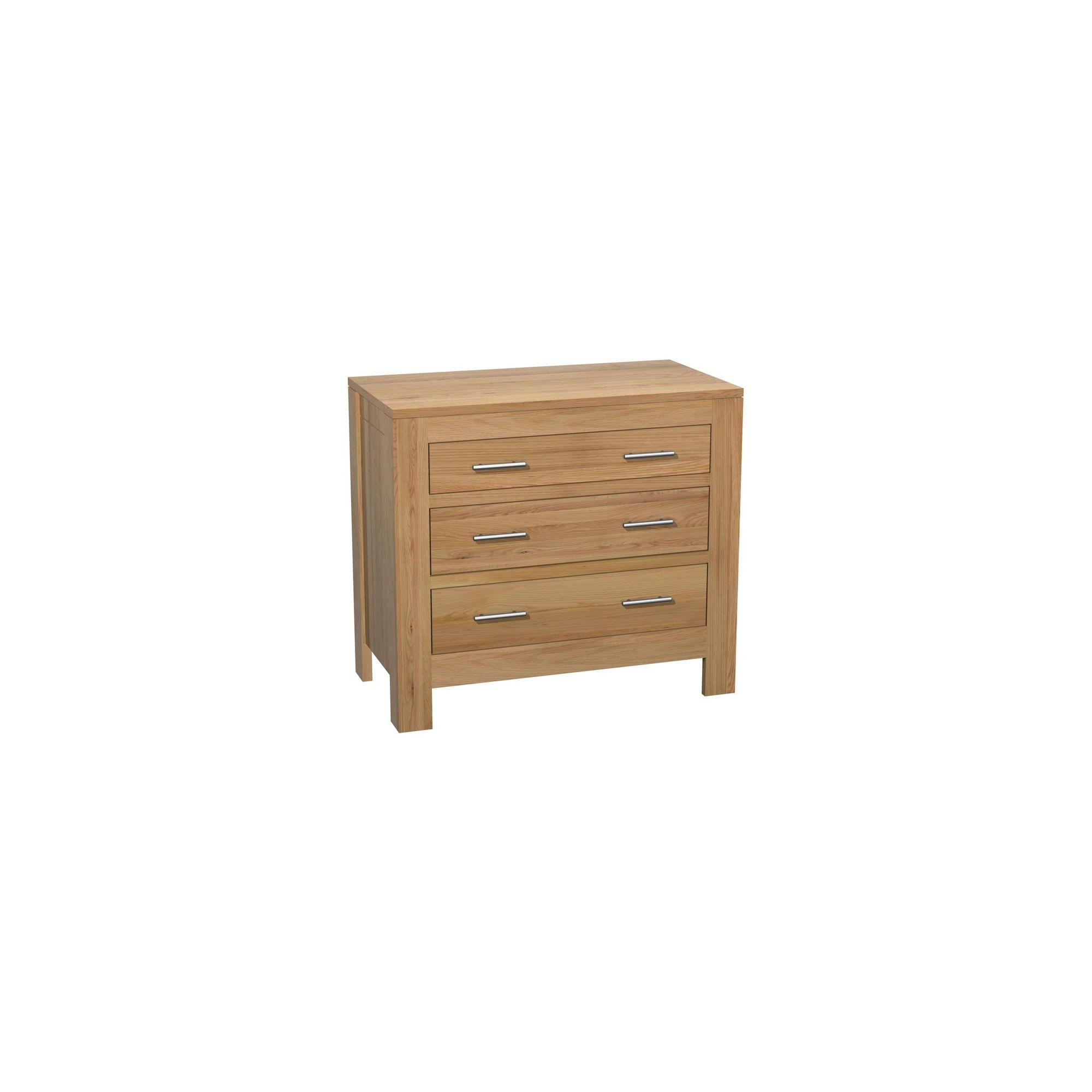 Kelburn Furniture Milano 3 Drawer Chest in Clear Satin Lacquer at Tesco Direct