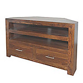 Montana Dark Sheesham Corner TV Unit