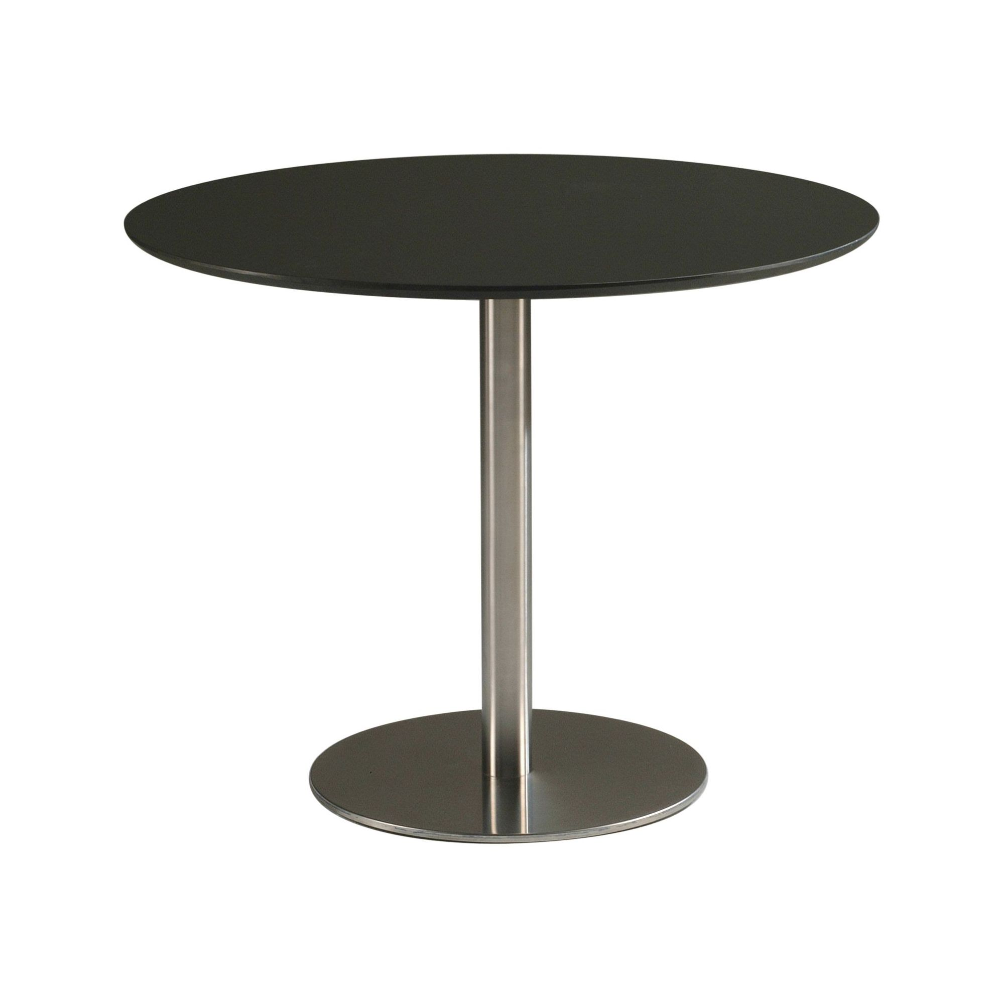 round kitchen casual dining table 80 cm black glass features round