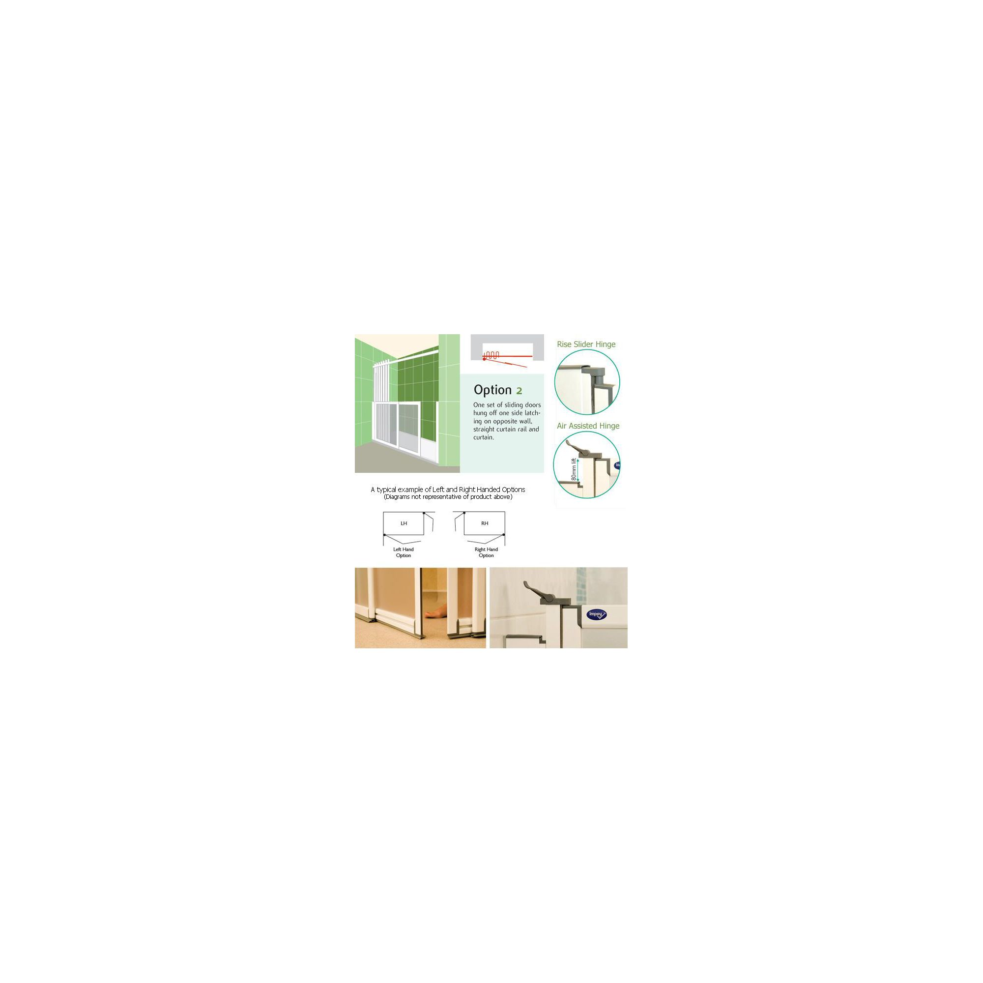 Impey Touch 'N' Go Shower Doors OPTION 2 at Tesco Direct