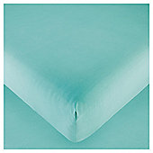 Tesco Fitted Sheet Double Aquamarine