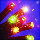 9.7m/31ft Chain of Battery Operated 140 Multicoloured LED Lights