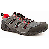 Mountain Peak Mens Outback Grey and Red Walking Shoes - 11
