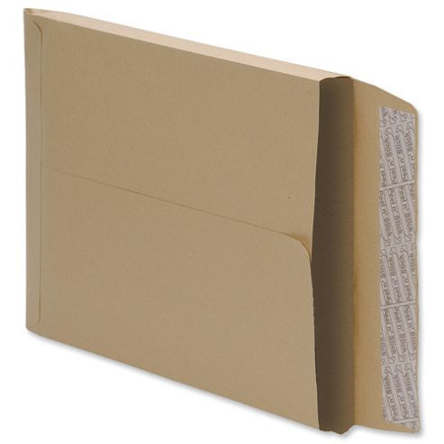 5 Star Envelopes Peel and Seal Gusset 25mm 115gsm Manilla 381x254mm [Pack 125]