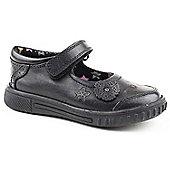 Hush Puppies Girls Yaxley Black Slip-on School Shoes - Black