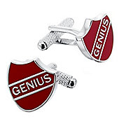 Prefect Style Red Shield Genius Cufflinks
