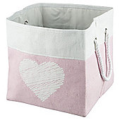 Tesco Heart Paperloom Basket
