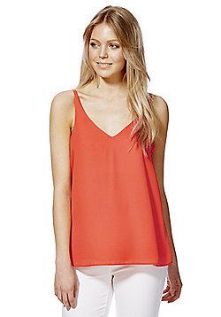 F&F Textured V-Neck Camisole - Orange
