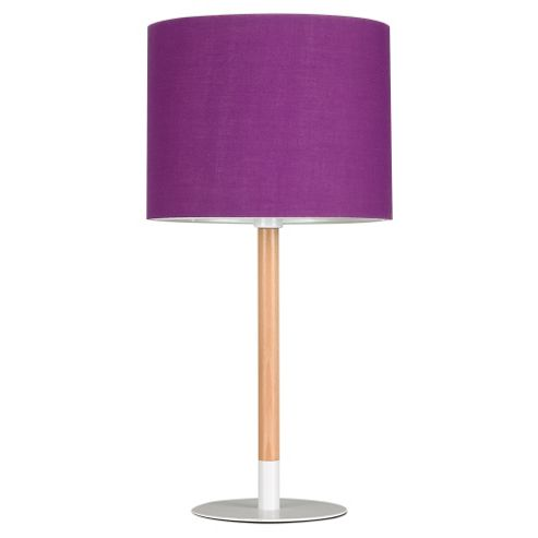 buy llewelyn wooden stick table lamp base black with purple shade from our ta. Black Bedroom Furniture Sets. Home Design Ideas
