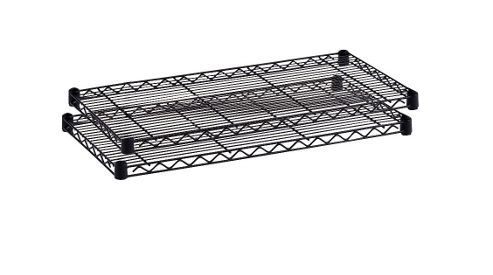 Safco Large Commercial Shelves Wire in Black