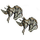 Pewter Retriever and Duck Cufflinks