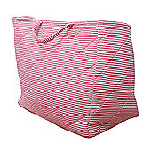 Candystripe Toy Storage Basket - Pink