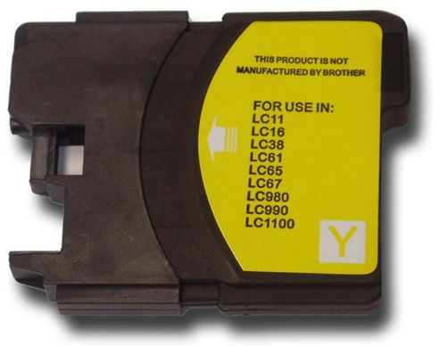 The Ink Squid Brother LC1100 Y Compatible Ink Cartridge Yellow