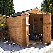 8ft x 6ft Windowless Tongue & Groove Apex Shed With Double Doors