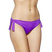 F&F Textured Side Tie Bikini Briefs - Purple