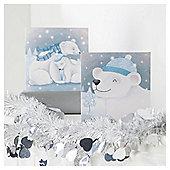 Tesco Polar Bears Christmas Cards, 10 Pack