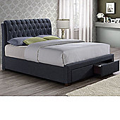Happy Beds Valentino Fabric Bed 5ft Two Drawers Frame