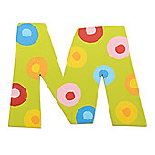 Tatiri TA313 Spots and Stripes Wooden Letter M