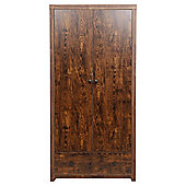 Torino 2 Door 1 Drawer Wardrobe, Mango Effect