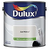 Dulux Silk Emulsion Paint, Just Walnut, 2.5L
