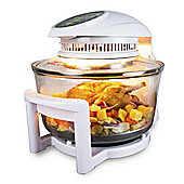 ElectrIQ 17 Litre Hinged Digital Premium Halogen Oven + Full Accessories pack - HOV17D