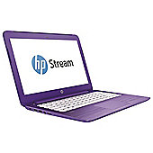 "HP Stream 13-c101na 13.3"" Intel Celeron 2GB RAM 32GB eMMC Streambook Laptop Purple"