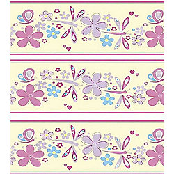 Pastel Butterfly Wallpaper Border