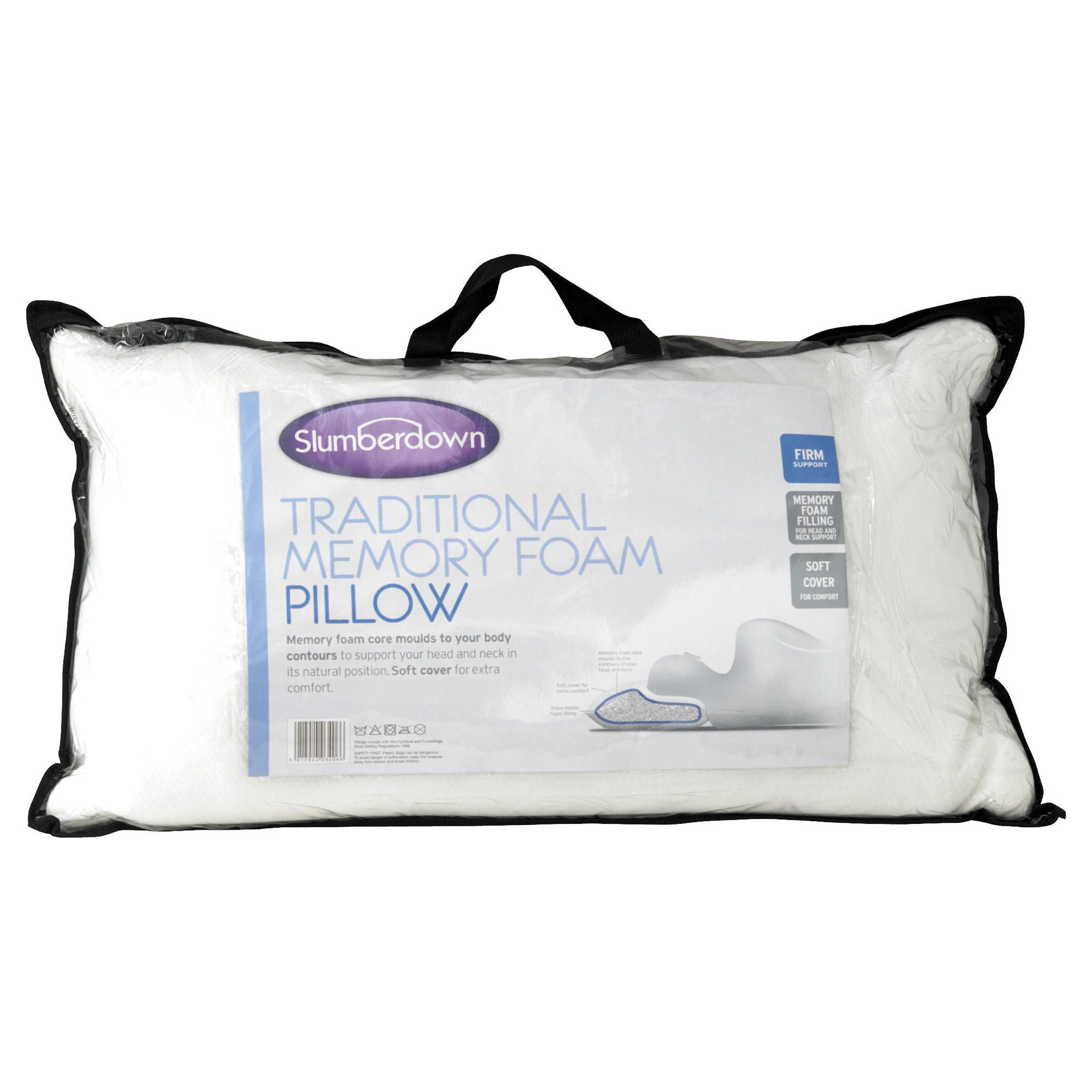 Slumberdown Traditional Memory Foam Pillow : Myshop