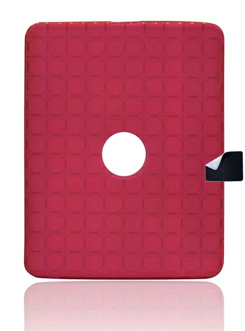 U-bop Stamp WIPE and gSHELL Tough All-body Case for Apple iPad 2 - Smoke Pink