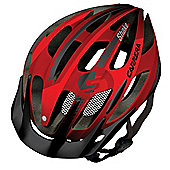 Carrera E0444 Shake MTB Helmet Rear Light Blood Red Small Medium 54-57cm
