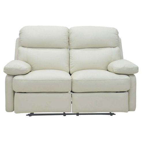 Cordova Leather Small Recliner Sofa Ivory