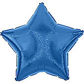 Blue Dazzler Star Balloon - 19' Foil (each)