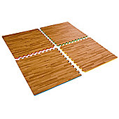 Interlocking High Impact Floor Matting Wood Effect/Colour Reversible 1.5sqm