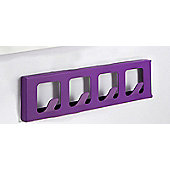 Hispanohogar Wall Coat Rack - Violet