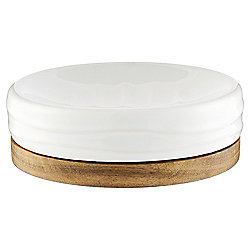 Tesco Wood & Ceramic Soap Dish