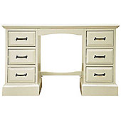 Ultimum Hambleton Off White Double Pedestal Dressing Table